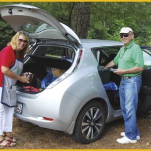 Cornelius and Marilyn Wallace purchased their new Nissan Leaf after visiting the electric vehicle display at Diverse Power's Annual Meeting in May.