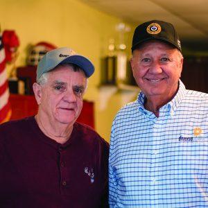 Consumer-member Jimmy Bradley Sr. and Diverse Power President/CEO Wayne Livingston