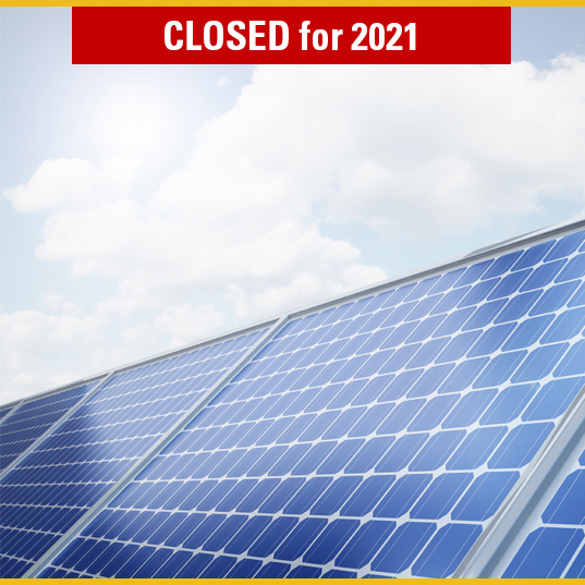photovoltaic program closed for 2021