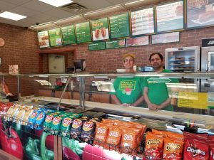 Denise Reed and owner Andy Patel welcome customers to Subway in Cuthbert.