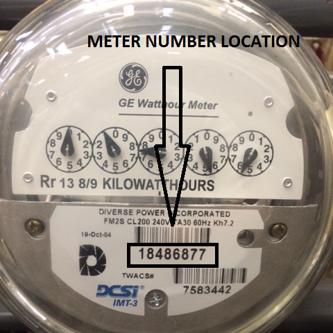 Locate Your Account & Meter Numbers - Diverse Power